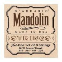 D'Addario J62 Mandolin Strings - 80/20 Bronze Wound (Mandolin)