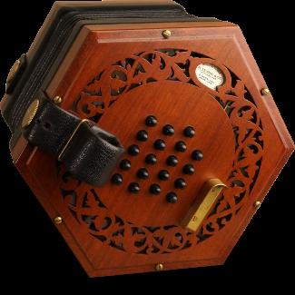 R Morse & Co 38 Button Baritone English Concertina