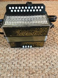Hohner Pokerwork D-G Melodeon-Used